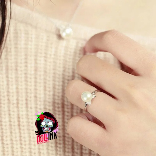 Fashion-cute-Cat-ears-Pearl-Ring-Natural-Freshwater-Pearl-Jewelry-black-Rings-For-Women-Wedding-Rings